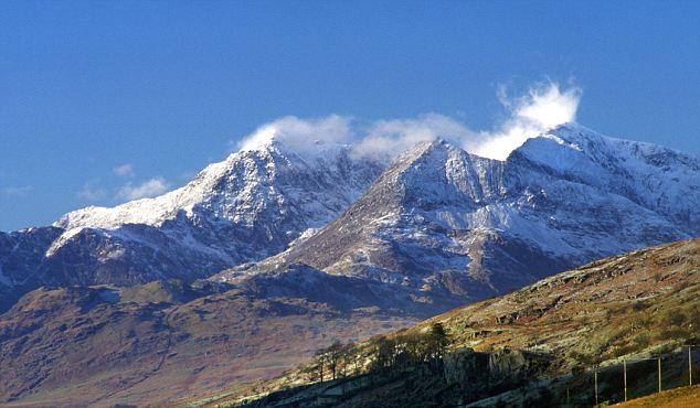 AJ8H53 Mount Snowdon Range North Wales